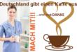 Deutschland gibt einen Kaffee aus